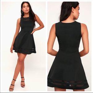 Lulu's Final Stretch Black Dress XS